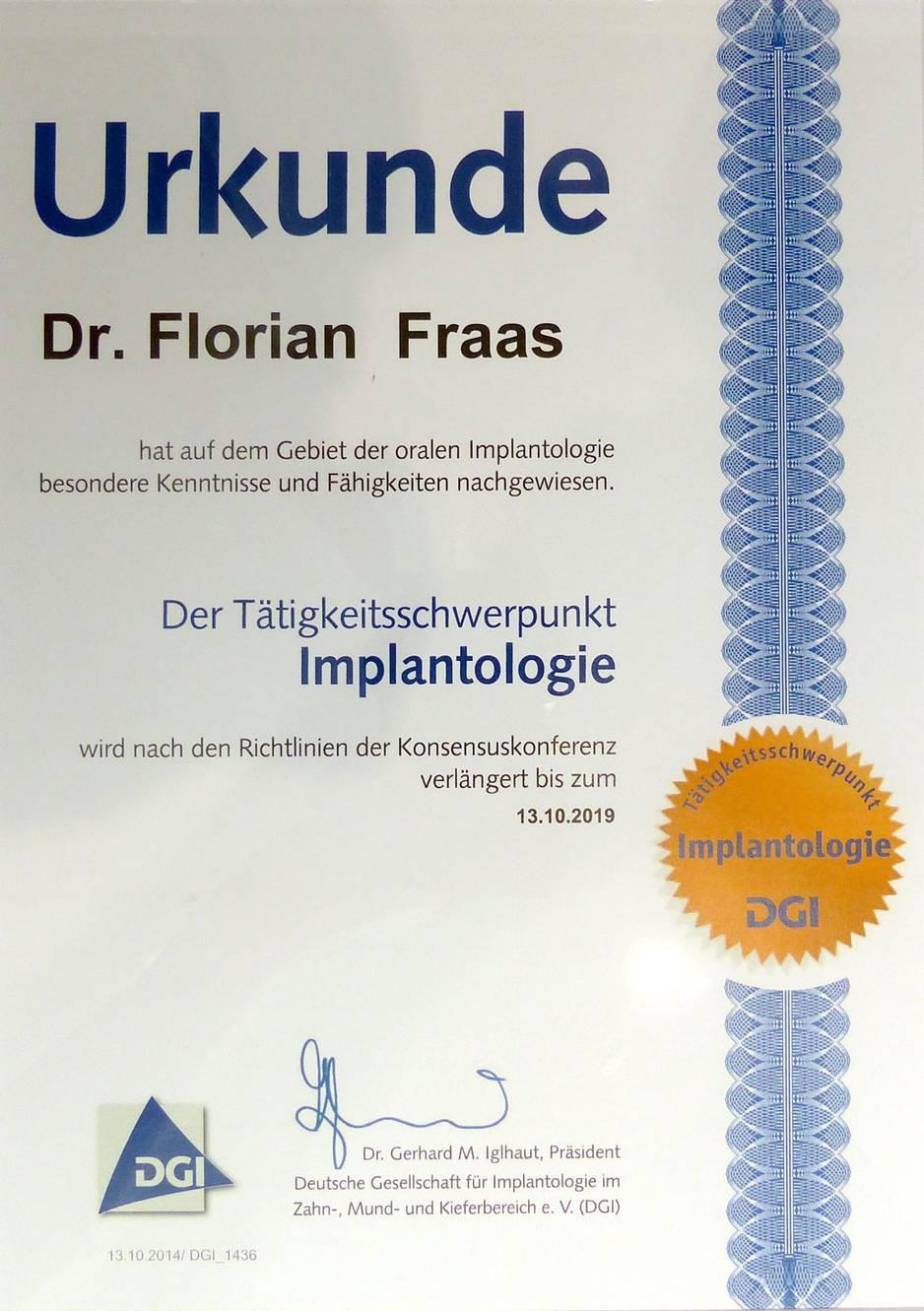 Tätigkeitsschwerpunkt 2005 Dr. F. Fraas
